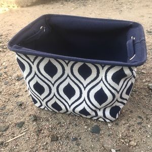 Other - Blue White Storage Caddy Container Printed